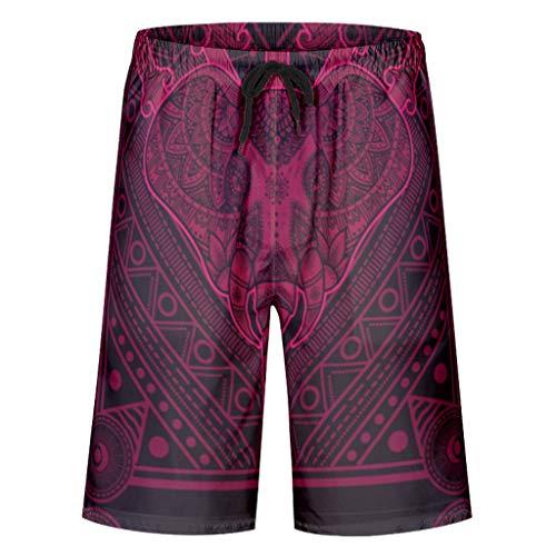 Trajes de baño para hombre con diseño de animales delgados, elegantes pantalones cortos con 2 bolsillos laterales