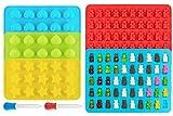 Ecoki Gummibärchen/Schokoladenform 5er Set aus Silikon, LFGB Zertifiziert BPA-frei Silikon Bonbons,...