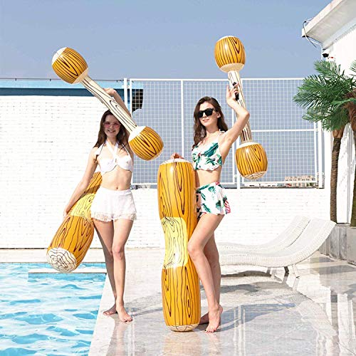 Piscina flotante de PVC para niños y adultos, 4 piezas, juego de sillones de descanso, juegos deportivos, juguetes para el aire libre, playa, natación, anillo hinchable