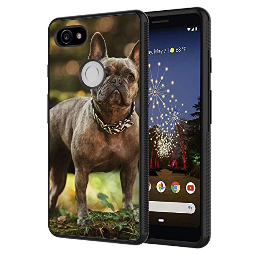Google Pixel 2 Case,French Bulldog Anti-Scratch Shock Proof Black TPU and PC Protection Case Cover for Google Pixel 2 (2017)
