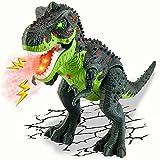 TOEY PLAY Eléctrico Dinosaurio Juguete T-Rex Dinosaurios Figuras Luz Sonido Niebla de Agua Caminar Juguetes Educativo Niño Niña 3 Años
