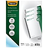 Fellowes Binding Presentation Covers, 8mil, Letter, 100 Pack, Clear (52089)...
