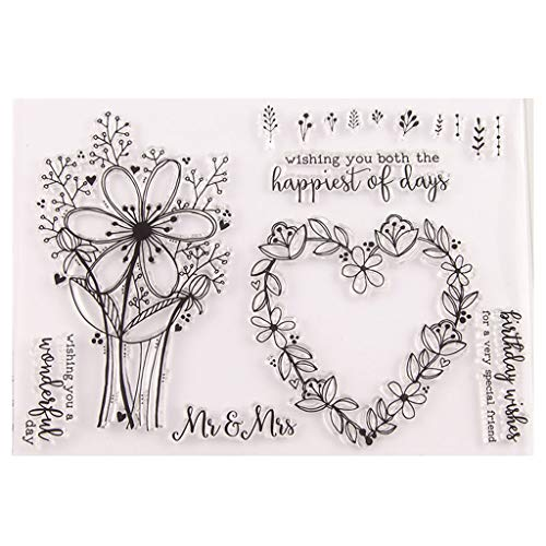 Heart Flower Silicone Clear Seal Stamp DIY Scrapbooking Embossing Photo Album Decorative Paper Card Craft Art Handmade Gift