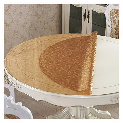 Nappes Transparent TableCloth, Pad Nappe ronde imperméable à l'eau Tapis à café Anti-chaleur à l'huile Table basse ( taille : Round/130cm )