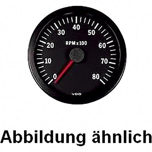 VDO Drehzahlmesser Vision 12V 52MM/6000 U/Min ALLE Motorrad.