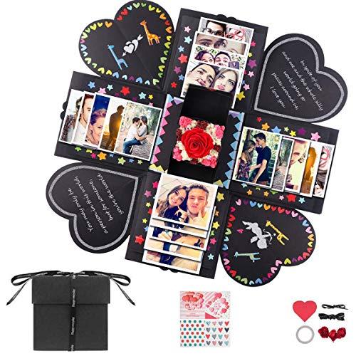 KUSSN Kreative Überraschung Box Explosions-Box DIY Geschenk Scrapbook und Foto-Album Hochzeit Jahrestag Geburtstags Weihnachten Geschenkbox für Hochzeit, Muttertag.
