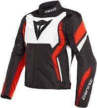 Dainese Edge Tex Jacket -Black/White/Fluo Red (Euro 54 / US 44)