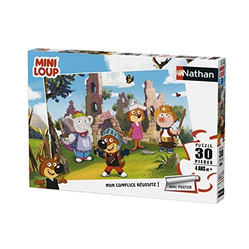 Nathan–Puzzle Mini-Loup Jugando al Caballero 30Piezas, 86367