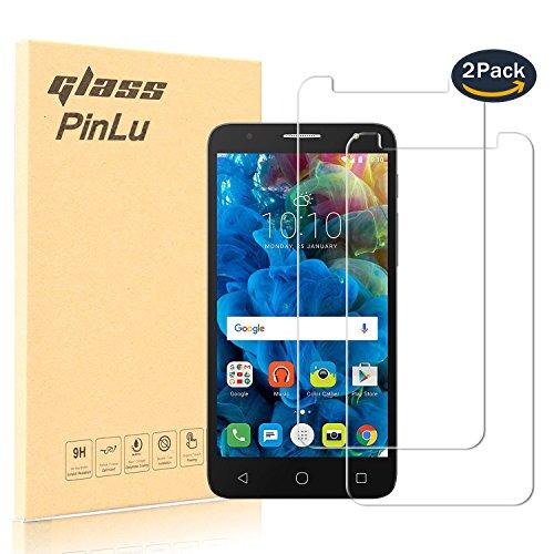 pinlu [2 Pack] Protector de Pantalla de Cristal para Alcatel Pop 4...