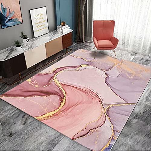 IRCATH Color geométrico Irregular de Costura Abstracta Moderno sofá Dormitorio Sala de Estar al Lado del área de la Cama Alfombra-160x230cm Resistente y Duradera Resistente a la presión sin decolorac