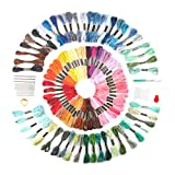 Hilos para Bordar,moinkerin 100 Colores Hilos de Bordar Bordado Kit de Hilos Cross Stitch Bordado Hilos, Artesanía de Arte de Bricolaje, Tejido, Proyecto de Punto de Cruz
