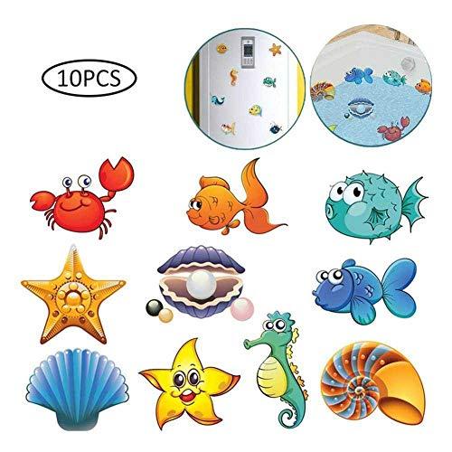nobrand 10 Stück/Set Badaufkleber Wandaufkleber Fliesenaufkleber Ocean World Scrub Cartoon Aufkleber Das Badezimmer Für Kinder Baby