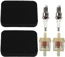 Allong 17211-899-000 Air Filter + Fuel Filter + Spark Plug for Honda GX240 GX270 GX340 GX390 Generator
