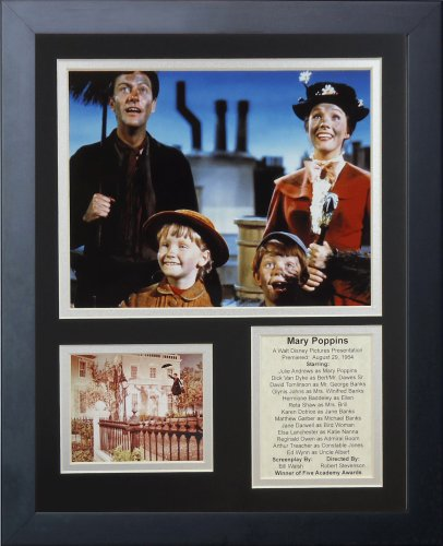 Legends Never Die 'Mary Poppins Framed Photo Collage, 11 x 14-Inch, 16420U