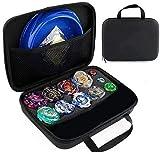 OBEST Conjunto de Peonzas Juguetes con Bolsa Portátil, 8 Gyros y 2 Turbo Lanzador Set, con Disco de Batalla, Spinner Tops para Niños