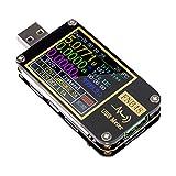 USB Tester USB Voltage Meter FNB48 PD Trigger Voltmeter USB 3.0 Voltage and Current Tester DC 4-24V 6.5A USB C Multimeter PPS Fast Charging Protocol Capacity Tester QC2.0 3.0
