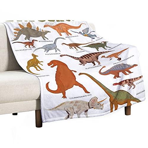 Manta de franela mullida con diseño de dinosaurios jurásicos en 3D, ideal para niños y niñas, 150 x 100 cm