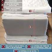 Dormio Zafiro - Colchón viscoelástico, Blanco, 90 x 190 x 21 cm