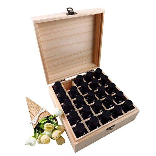 25 Fach Aromatherapie Holz ätherisches Öl Aufbewahrungsbox Fall Make-up Träger Fall Roller Flaschen Ölhalter Display Veranstalter Öle Sammlung Container