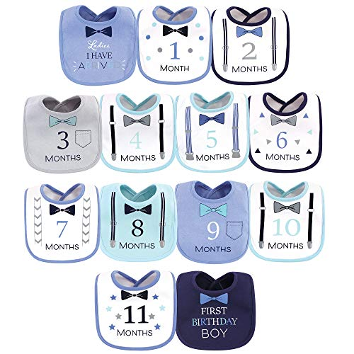 Hudson Baby Unisex Baby Cotton Bibs, Ladies I Have Arrived 13-Pack, One Size