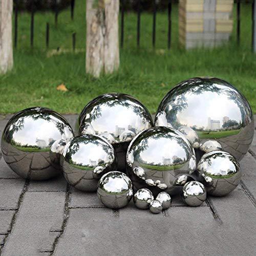 Prokth - Boule de décoration réfléchissante en acier inoxydable 304 - Boule creuse, lisse et flottante pour étang - Ornement de jardin, Acier inoxydable, Silver, 150mm