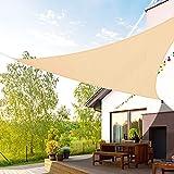 Duerer Tenda a Vela Ombreggiante Triangolare 3.6X 3.6X 3.6m Vela Parasole Blocco 95% UV Tenda da Sole da All'aperto Giardino, Balconi, Terrazza, Campeggio-Sabbia