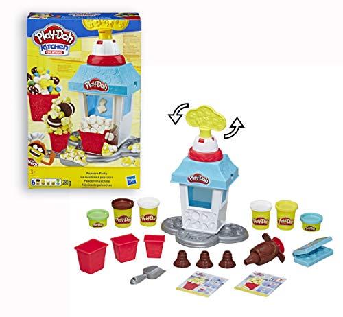 Play-Doh Popcornmaschine mit 6 Dosen Play-Doh Knete, ab 3 Jahren 3