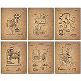 Home Theater Patent Wandkunstdrucke – Set mit 6