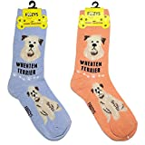 Foozys Unisex Crew Socks | Canine/Dog Collection | Wheaten Terrier