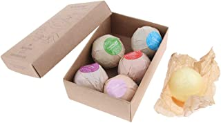 D DOLITY 6pcs Natural and Organic Bath Bomb Balls Set for Home Spa Bath, Moisturizing and Smoothing Skin for Women, Teens, Girlfriend, Kids