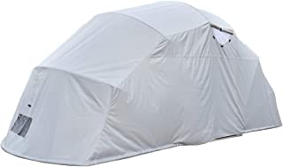Retractable Carport Small-Medium Size Weatherproof Foldable Car Shelter Completely Folded on Ground