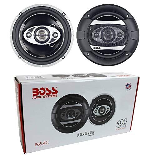 2 Altavoces coaxiales de 4 vías Compatible con Boss Audio Systems PHANTOM P65.4C 16,50 cm 165 mm 6,5' 200 vatios rms 400 vatios MAX sensibilidad 84 db 4 ohmios, por par