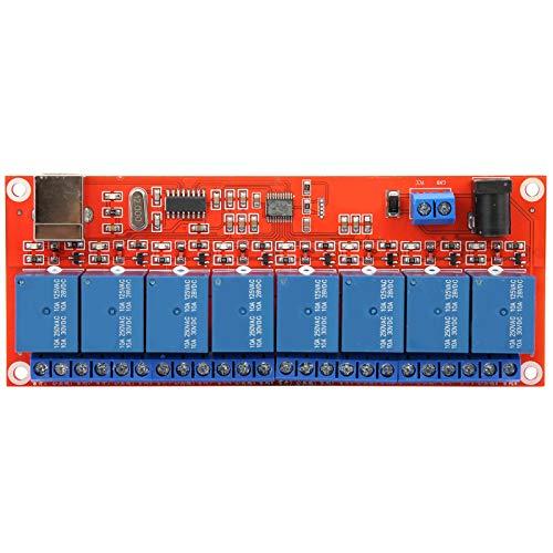 Yunseity Módulo de relé, CA 250V 10A, DC 30V 10A Módulo de Interruptor de relé, Disparador de bajo Nivel Módulo de Interruptor de relé de 8 vías para Control Industrial, Control de Motor(5V)