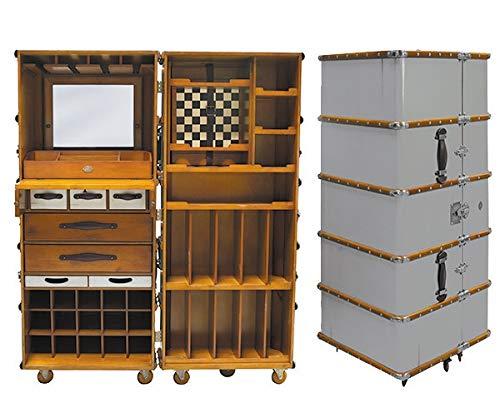 Authentic Models Stateroom Bar, Barschrank auf Rollen, Silber, Anniversary Edition limitiert MF078A