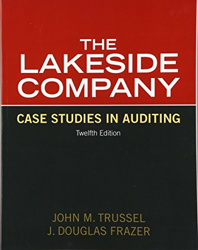 Lakeside Company: Case Studies in Auditing