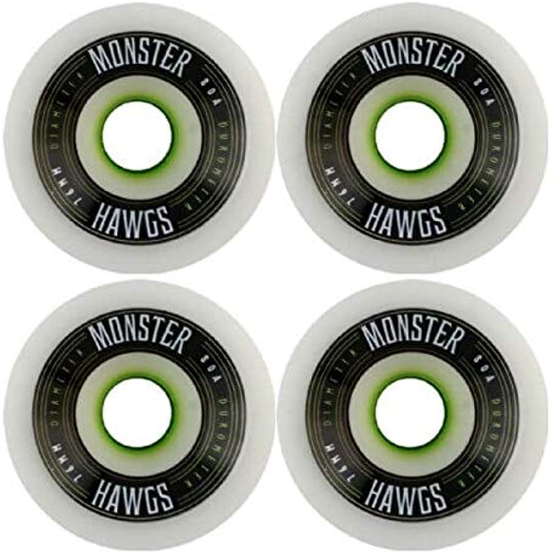 Hawgs Wheels Monster Weiß Skateboard Wheels - 76mm 76a (Set of 4) B004PP998A  Zu einem erschwinglichen Preis