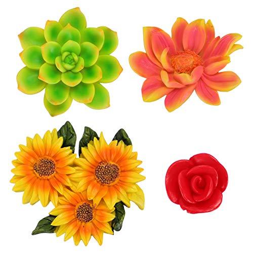 SOLUSTRE 4 Unidades de Imanes de Nevera de Flores Rosa Imanes de Pizarra Blanca Tablero de Mensajes Imanes para Niños Juguetes para Fiestas para Gabinetes de Oficina