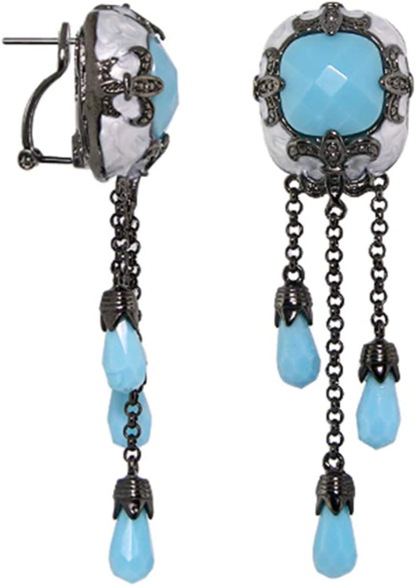 Knights of Love Chandelier Earrings - French Clip
