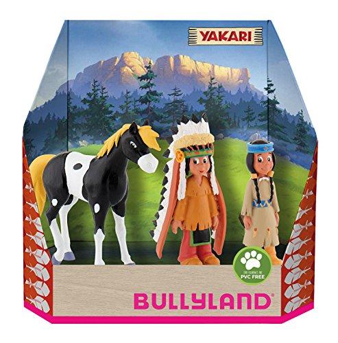 Bullyland 43309 - Spielfigurenset, Yakari in Geschenk Box, 3 teilig, liebevoll handbemalte Figuren, PVC-frei, tolles Geschenk für Jungen und Mädchen zum fantasievollen Spielen