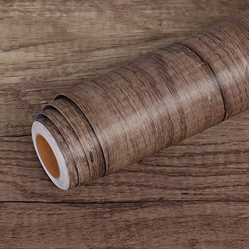 Livelynine 40CMx10M Holz Folie Selbstklebend PVC Bodenbelag Sonoma Eiche Bodenfolie Selbstklebend Vinylboden Selbstklebend Folie Holzoptik Venylbodenbelag Selbstklebend Fußbodenbelag