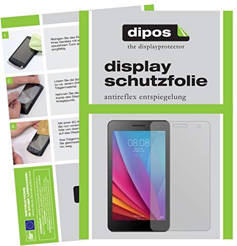 dipos I 2X Schutzfolie matt kompatibel mit Huawei Mediapad T1 7.0 Folie Bildschirmschutzfolie