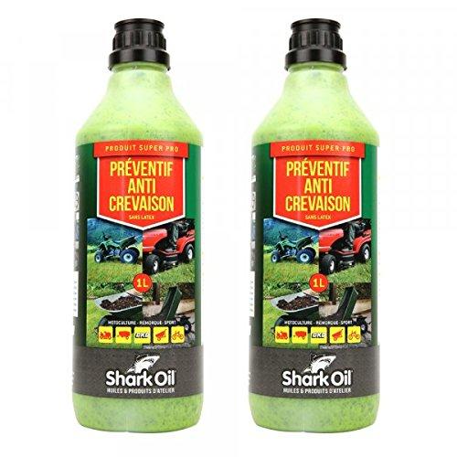 Préventif anti crevaison Shark Oil OKO super pro 1 litre par 2 - Pièce neuve