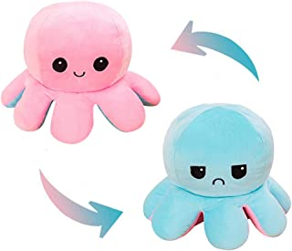 AioTio Double-sided Octopus Flip Plushie|Show your mood to the parents/kids without any word|As an interesting gift to kid...