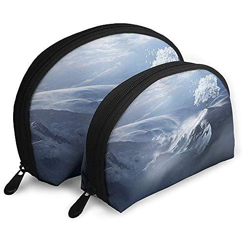 Schnee Berge scene1 tragbare Taschen Make-up Tasche kulturbeutel, multifunktions tragbare reisetaschen kleine Make-up Kupplung Tasche mit reißverschluss