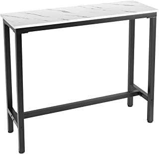 "Mr IRONSTONE 47"" Pub Dining Table, Bar Height Table with Faux Marble Top (Indoor USE ONLY)"