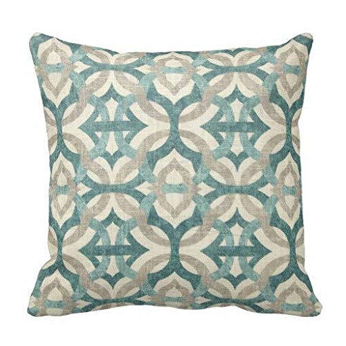 N/ A 18 x 18 cuscini verde acqua traliccio cuscini cuscini cuscini cuscini divano cuscini decorativi biancheria cuscino coperta cuscino cuscino cuscino