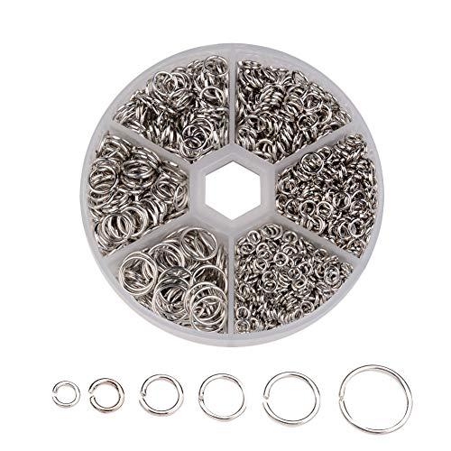 Mackur - Anillos de Metal para Manualidades, 8 x 2 cm, Color Gris