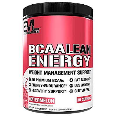 Evlution Nutrition BCAA Lean Energy - Energizing Amino Acid for Muscle Building Recovery and Endurance, with a Fat Burning Formula, 30 Servings by Evlution