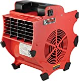 K Tool International Big Chill Workforce Blower 1200 CFM 300W - 110-120V/60HZ - 3 Speeds with 4-Positions - Indoor and Outdoor Use - Heavy Duty Design; KTI77700