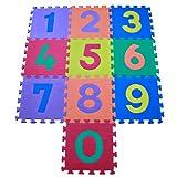 Weich, sicher, wasserdicht, leicht zu reinigen. Geeignet für Kinder ab 3+ Jeder Stein ist 1cm². Jede Packung Abdeckung ist 10ft². Pop Out Zahlen, Hilfe Kinder lernen zählen EN71Teil 1,2,3,9,10und 11Sicherheit von Spielzeug getestet, Ammoniak un...